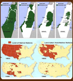 White exapnsion in America and Israel
