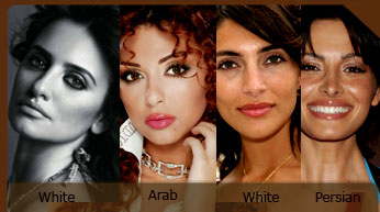 "White, Arab, Persian, same ""race"" difference only political"