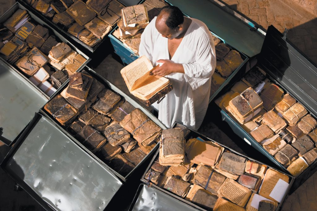Timbuktu with ancient manuscripts from Mali,