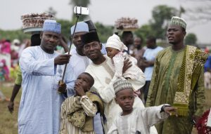 Muslim family at Eid in Nigeria