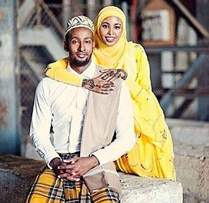Somali couple wedding