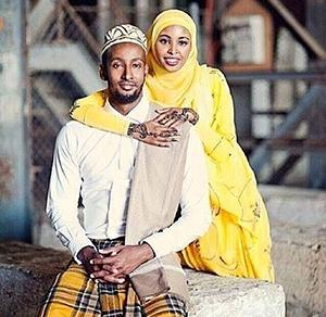 Somali couple wedding