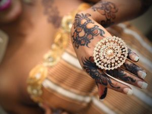 Henna art in an African wedding