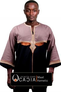 Ocacia Maat Designer African mens top