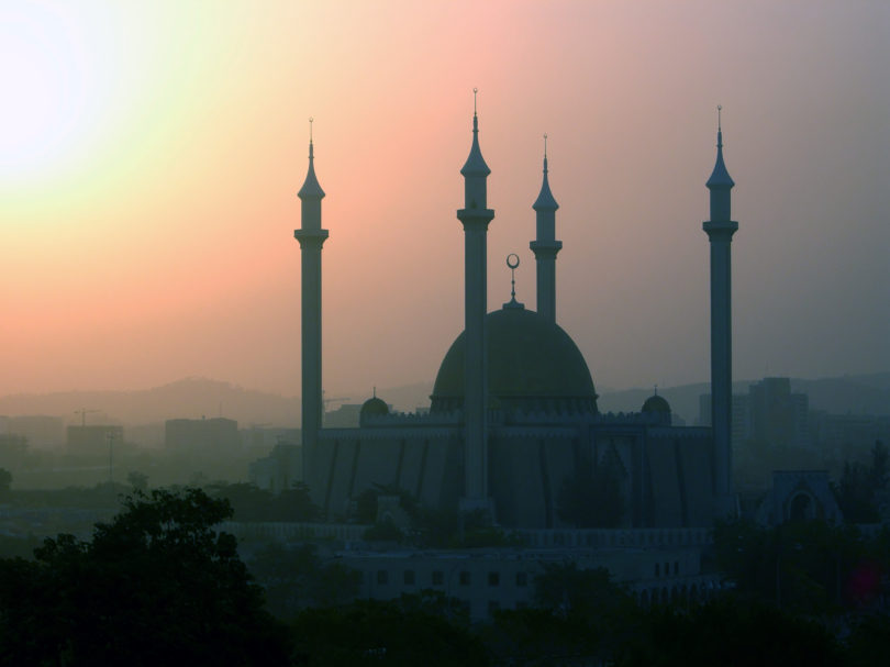 Mosque in Nigeria population 90 million.