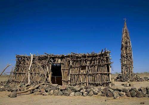 Stick Mosque Ethiopia