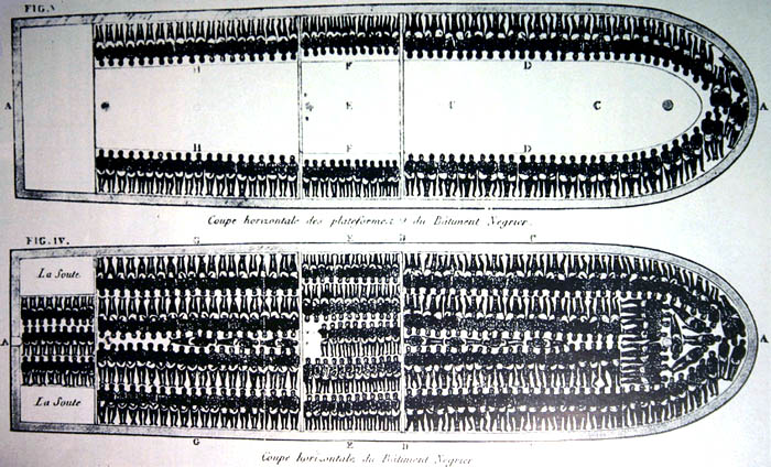 Inside Slave Ship, African cargo packing